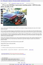 For $8,700, This Project Vette Wears Garanimals Used Inventory Tesla Craigslist Sf Cars For Sale By Owner Motor 6500 Is This Triumph A Rock And Roll Machine Bay Area Becomes Top Spot In Nation Auto Theft Cbs San Francisco Vehicle Scams Google Wallet Ebay Motors Amazon Payments Tesla Updates Model 3 Spotted Twice This Week In Truck Depot Commercial Trucks North Hills The Car Database 25000 Pickup Cadillacamino Chicago Illinois Online Help For And 4995 Be Crierrageous Guide To Camping Berkeley