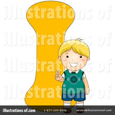Royalty Free RF Letter Kids Clipart Illustration By BNP Design Studio