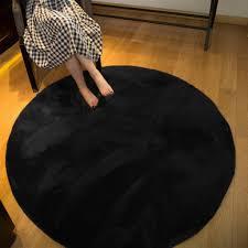 icegrey solid shaggy teppich hochflor langflor plš sch teppich runder nachbildung rutschfeste waschbar bodenmatte fš r wohnzimmer flauschig shaggy