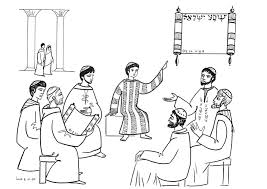 Jesus As A Child In The Temple Coloring Page Wwwimgarcadecom Best Of