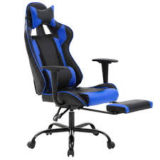 High-Back PU Leather Racing Gaming Chair, Desk Computer Ergonomic Executive  Swivel Rolling Home Office Chair With Lumbar Support Adjustable Headrest ...