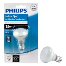 philips 25 watt incandescent r14 mini reflector light bulb 415372