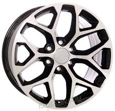 100 20 Inch Truck Rims Chevy Style Black And Machined Snowflake Wheels