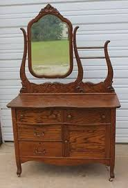 antique mission style tiger oak dresser carved tiger face drawer