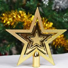 Christmas Tree Toppers by Aliexpress Com Buy 9 5cm Golden Glitter Star Christmas Tree