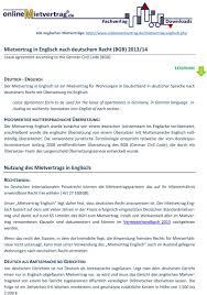 alle englischen mietverträge englisch php pdf