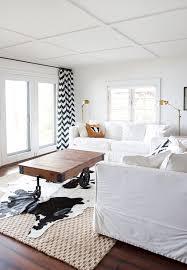 yellow chevron curtains contemporary living room lonny magazine