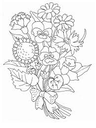Flower Bouquet Coloring Page 16