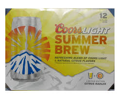 Coors Light Summer Brew is the latest fruit flavored beer introduced by Miller Coors After the successful launch of Redd s Apple Ale they introduced Redd s