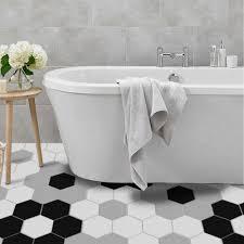 10 teile satz schwarz weiß grau hexagon boden wand aufkleber