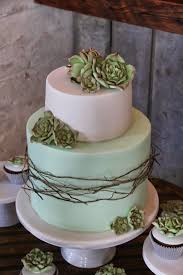 I Accompanied The Cake With A Dozen Of Cupcakes Decorated Sugar Succulents Its Not Your Usual Wedding So Was Quite Nervous If Indira Doesnt