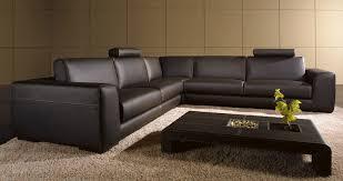 Modern Brown Leather Sofa Full Size  Wickertrunk