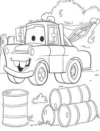Cars Movie Coloring Pages To Print