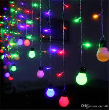led light led curtain string lights bulb strings 48 104