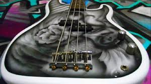 Custom Painted Bass Guitar