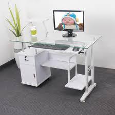bureau ordinateur blanc pas cher chine peut trempé verre bureau d ordinateur ordinateur de