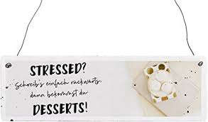 interluxe holzschild vintage stressed kuchen küche lustig