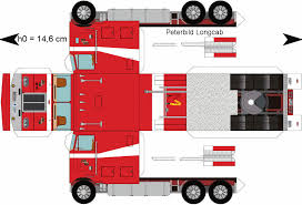 Paper Semi-Trucks | Papercraft Truck Related Keywords - Papercraft ...