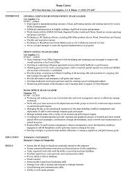 Download Office Team Leader Resume Sample As Image File