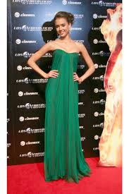 jessica alba mexico premiere strapless green dress on sale