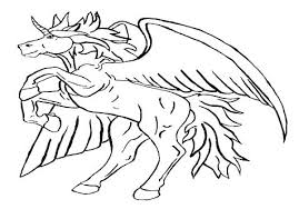Unicorn With Wings Coloring Pages Free Printable Baby Pdf