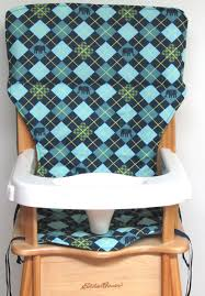 Eddie Bauer Wooden High Chair Pad, Replacement Cover, Argyle And ...