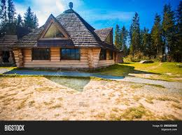 100 House In Forest Ethno Old Wooden Image Photo Free Trial Bigstock