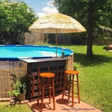 Bar Redneck Swimming Hole Update Diy Pallet Pool Deck Tiki