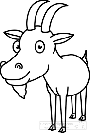 goat clipart black and white 5