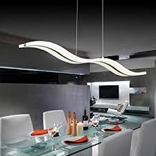 lightinthebox acrylic led pendant light wave shape chandeliers