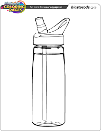 Coloring Pages Water Bottle