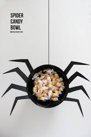 Halloween Candy Dish Craft by Spider Candy Bowl