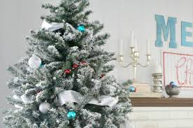 DIY Flocked Christmas Tree One Year Later