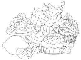 Cupcake Coloring Pages Best Printable