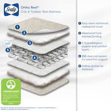 Toddler Bed Mattress Topper by Sealy Baby Ortho Rest Crib And Toddler Mattress Innerspring