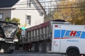 100 Truck Crashes Video VIDEO Tractortrailer Crashes Into Cambridge Home Local News