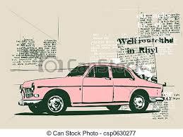 Vintage Car Stock Illustration