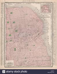 San Francisco City Map Plan Street Car Lines California RAND MCNALLY 1912