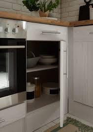 winkelküche landhaus küchenzeile einbauküche l form küche 220 x 172 cm respekta