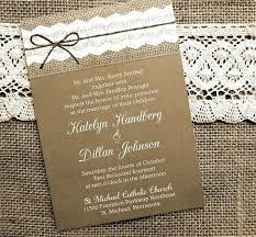 Burlap And Lace Wedding Invitations Hollowwood Uk