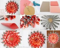 DIY Paper Dahlia Wreath Craft Tutorial Step By