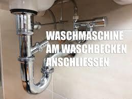 waschmaschine am waschbecken anschließen montage zubehör