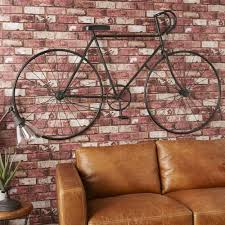 wanddeko fahrrad aus schwarzem metall 186x108 maisons du monde
