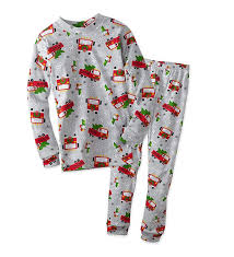 Amazon.com: Santa Fire Trucks Christmas Pajamas Set 100% Cotton ...