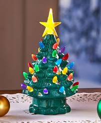 Retro Ceramic Christmas Tree Green Table Top