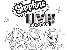 Heres A Fun Shopkins Coloring Page For Your Kids That You Can Print Color Go Here To