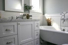 Tiles For Backsplash In Bathroom by Bathroom Chair Rail Design Ideas