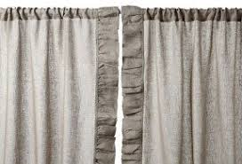 Gray Ruffle Blackout Curtains by Ruffle Curtain Panels Foter