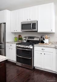 White Kitchen Cabinets Dark Flooring