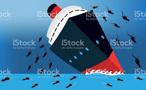 Cruise Ship Sinking 2015 by Rats Leaving A Sinking Ship Stock Vector Art 487626606 Istock